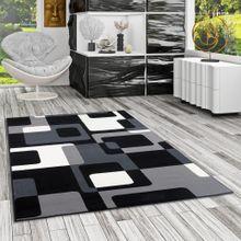 Teppich Modern Trendline Schwarz Grau Retro online kaufen