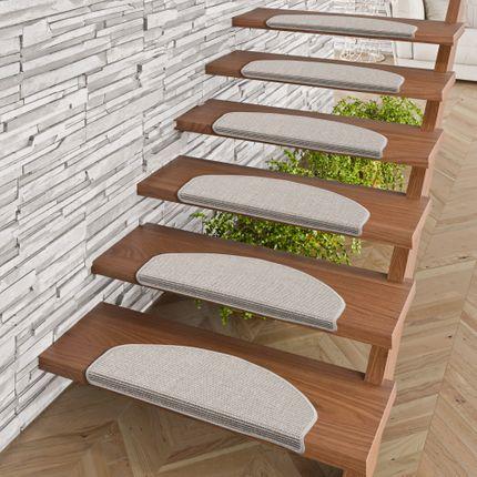 Natur Sisal Stufenmatten Grau (halbrund) in 2 Größen online kaufen