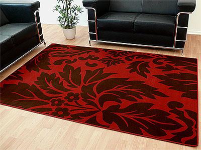 Teppich Modern Trendline Rot Braun Barock