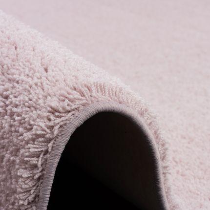 Hochflor Shaggy Teppich Palace Pastell Rosa Rund online kaufen