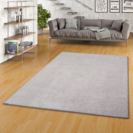 Luxus Soft Velours Teppich Shine Taupe