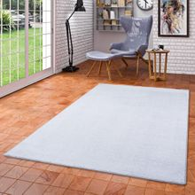 Luxus Soft Velours Teppich Shine Silbergrau online kaufen