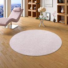 Luxus Soft Velours Teppich Shine Rosa Rund online kaufen