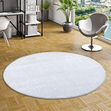 Luxus Soft Velours Teppich Shine Silbergrau Rund online kaufen