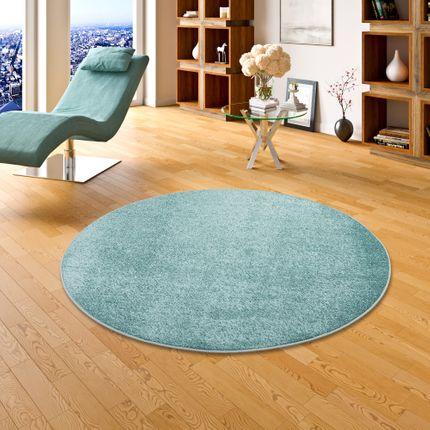 Hochflor Velours Teppich Luna Mintgrün Rund online kaufen