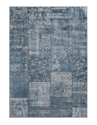 Orient Vintage Designer Teppich Famos Patchwork Dunkelblau online kaufen