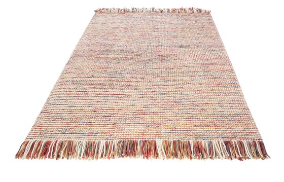Natur Teppich Wolle Lasse Bunt Mix