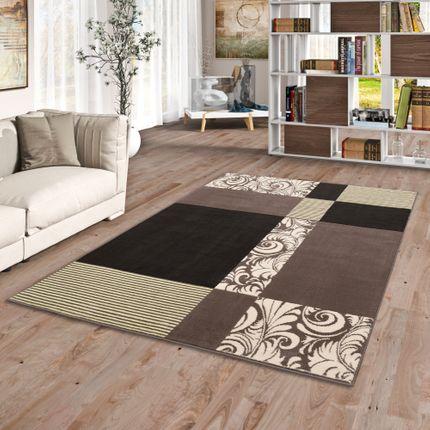 Teppich Modern Trendline Braun Beige Modern Karo