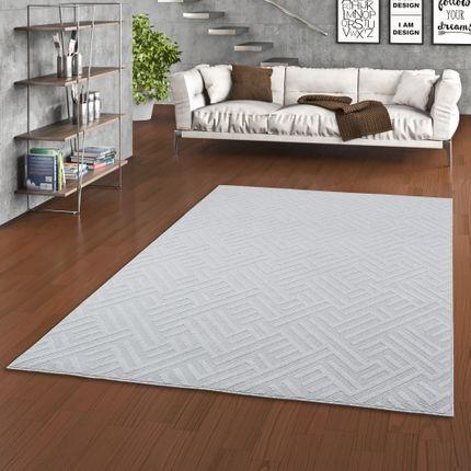 In- und Outdoor Teppich Flachgewebe Santorin Grau Trend