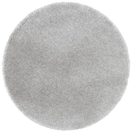 Luxus Hochflor Shaggy Teppich Dream Grau Rund online kaufen