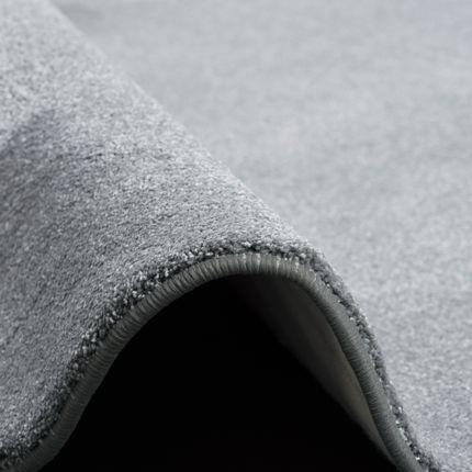 Hochflor Luxus Velours Teppich Touch Grau Rund online kaufen