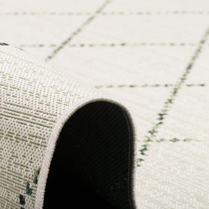 In- und Outdoor Teppich Flachgewebe Carpetto Grün Creme Rauten online kaufen