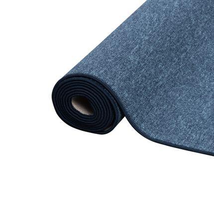 Feinschlingen Läufer Velour Teppich Strong Dunkelblau online kaufen