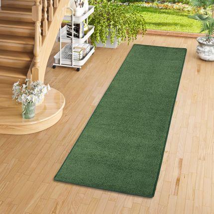 Trend Velours Läufer Teppich Joy Grün  online kaufen