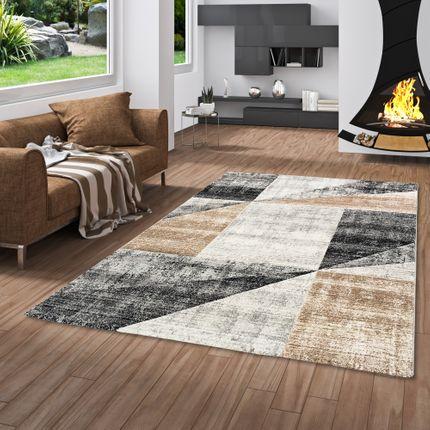 Designer Teppich Maui Modern Beige Grau Meliert