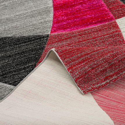 Designer Teppich Maui Modern Rot Grau Pink Retro online kaufen