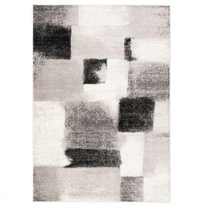 Designer Teppich Tango Karo Grau Anthrazit Verlauf online kaufen