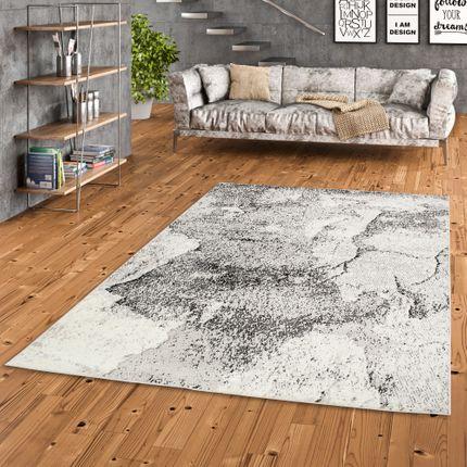 Designer Teppich Tango Grau Steinoptik online kaufen