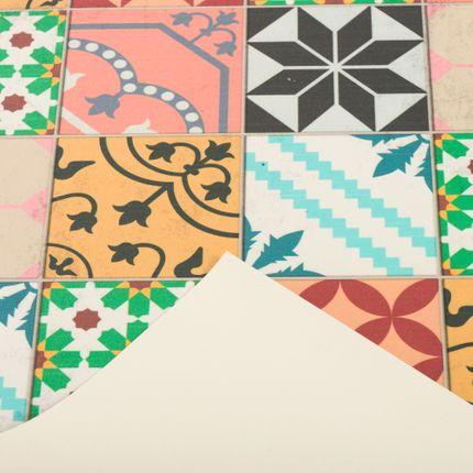 Vinyl Teppich Küchenläufer Evora Mosaik Fliesenoptik Bunt online kaufen