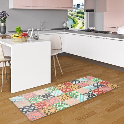 Vinyl Teppich Küchenläufer Evora Mosaik Fliesenoptik Bunt
