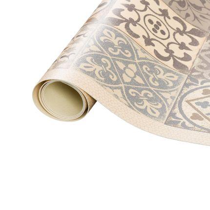 Vinyl Teppich Küchenläufer Evora Fliesenoptik Beige online kaufen