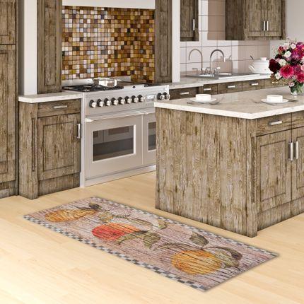 Küchenläufer Teppich Trendy Vintage Kitchen Beige online kaufen