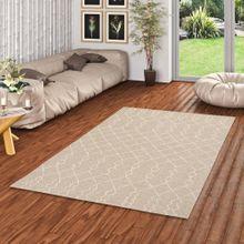 In & Outdoor Teppich Flachgewebe Natur Panama Grau Beige Modern online kaufen