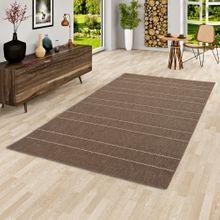 In- und Outdoor Teppich Flachgewebe Carpetto Braun Stripes online kaufen