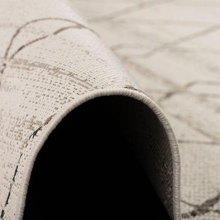 In- und Outdoor Teppich Flachgewebe Carpetto Beige Rauten online kaufen