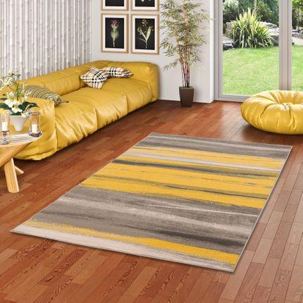 Designer Teppich Samba Beige Gelb Stripes online kaufen