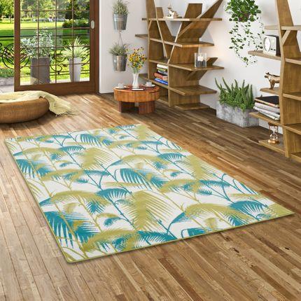 Designer Teppich Samba Türkis Grün Palmen online kaufen
