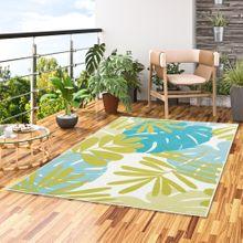 Designer Teppich Samba Türkis Grün Blätter online kaufen