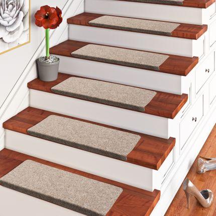 Trend Nadelfilz Stufenmatte Bent Beige Braun Mix (eckig) einzeln oder im 15er Set online kaufen
