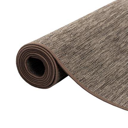 Sisal-Optik Designer Flachgewebe Teppich Pure Braun Meliert online kaufen