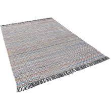 Baumwolle Natur Teppich Cayenne Grau Bunt Meliert online kaufen