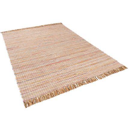 Baumwolle Natur Teppich Cayenne Braun Bunt Meliert