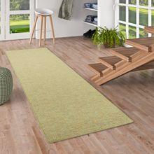 Läufer Teppich Schlingen Teppich Alma Grün Meliert online kaufen