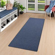 Läufer Teppich Schlingen Teppich Alma Blau Meliert online kaufen