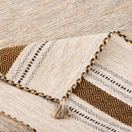 Natur Teppich Kelim Navarro Curry Beige online kaufen