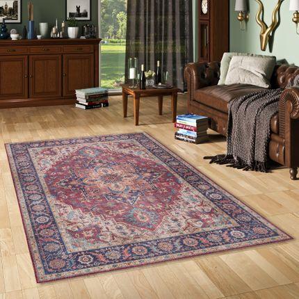 Luxus Vintage Designer Teppich Primus Orient Beige Braun
