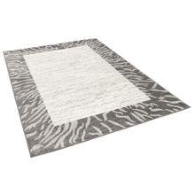 Designer Teppich Pastell Ivy Grau Bordüre online kaufen