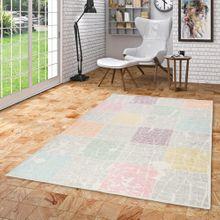 Designer Teppich Pastell Ivy Bunt Karo Vintage online kaufen