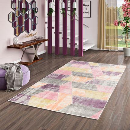 Designer Teppich Pastell Ivy Rosa Purple Trend