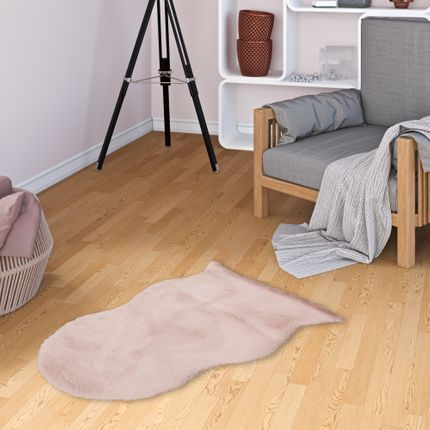 Luxus Super Soft Fellteppich Plush Altrosa Shape