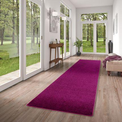 Hochflor Velours Läufer Teppich Luna Purple