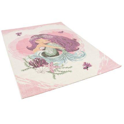 Kinder Teppich Maui Kids Meerjungfrau Pink Creme online kaufen
