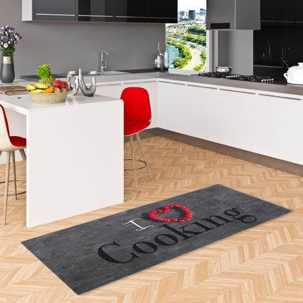 Küchenläufer Teppich Trendy I Love Cooking