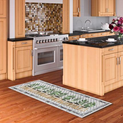 Küchenläufer Teppich Trendy Kitchen Kräuter