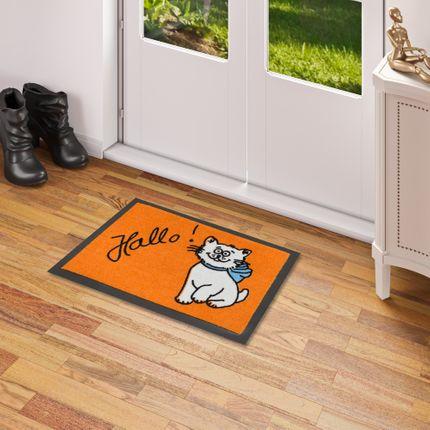 Fußmatte Sauberlauf Trend Katze Orange