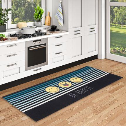 Küchenläufer Teppich Trendy Smiley Be Happy